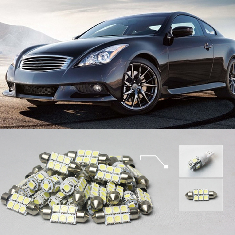 G35 coupe interior promotion shop for promotional g35 coupe 07 7x white led lights interior package kit for infiniti g35 coupe 2007 vanachro Choice Image