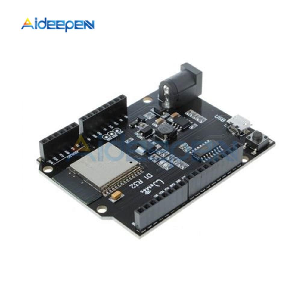 For ESP32 WiFi Bluetooth Development Board For Wemos D1 R32 Wireless Development Board Module For Arduino UNO R3 One 4MB Flash 3