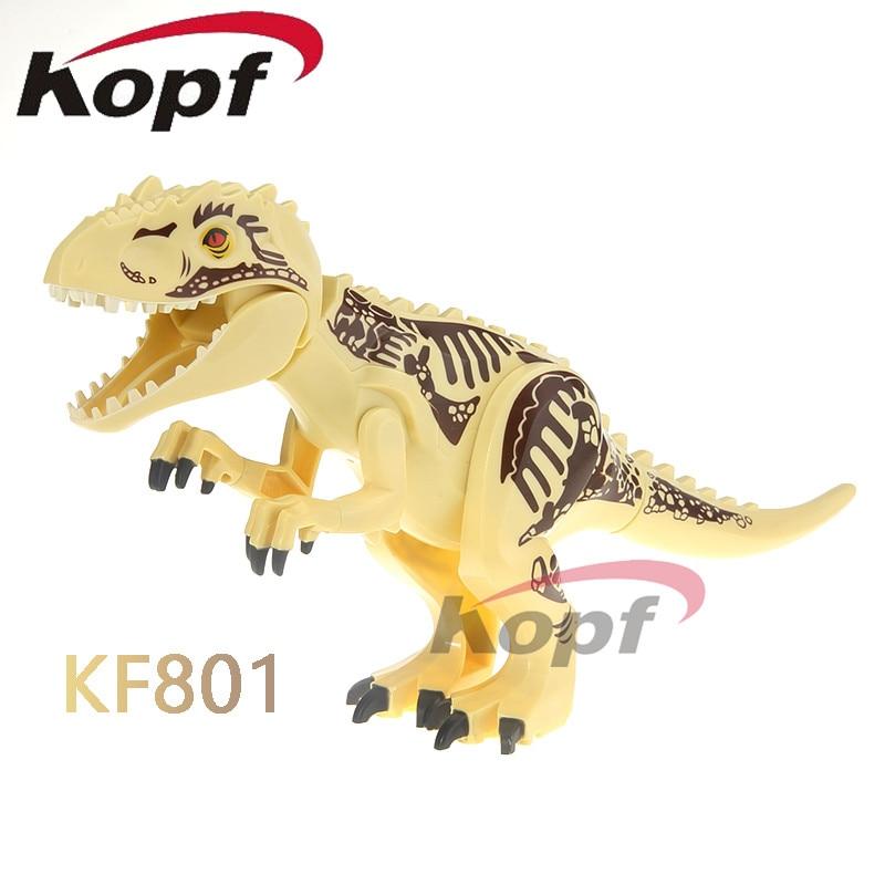 Building Single Dinosaur Model Toys Gift Jurassic Set Figures Rex Tyrannosaurus Sale Bricks Kids Blocks World Kf813 Raptor XOPZiku