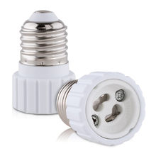 LumiParty LED Lamp Licht lamp Adapter Converter Houder Lamp E27 om GU10 Socket Schroef Base Houder Bulb Adapter(China)