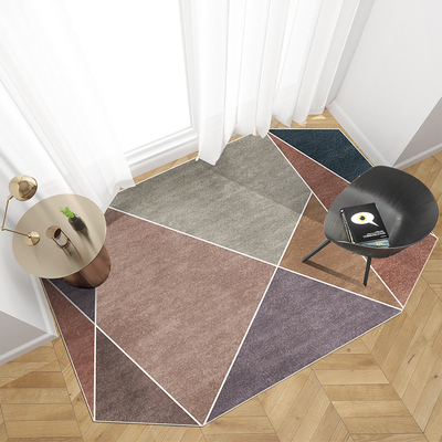 Nordic Carpet Simple Living Room Coffee Table Round Light Luxury Bedroom Bedside Mat Creative Irregular MatNordic Carpet Simple Living Room Coffee Table Round Light Luxury Bedroom Bedside Mat Creative Irregular Mat