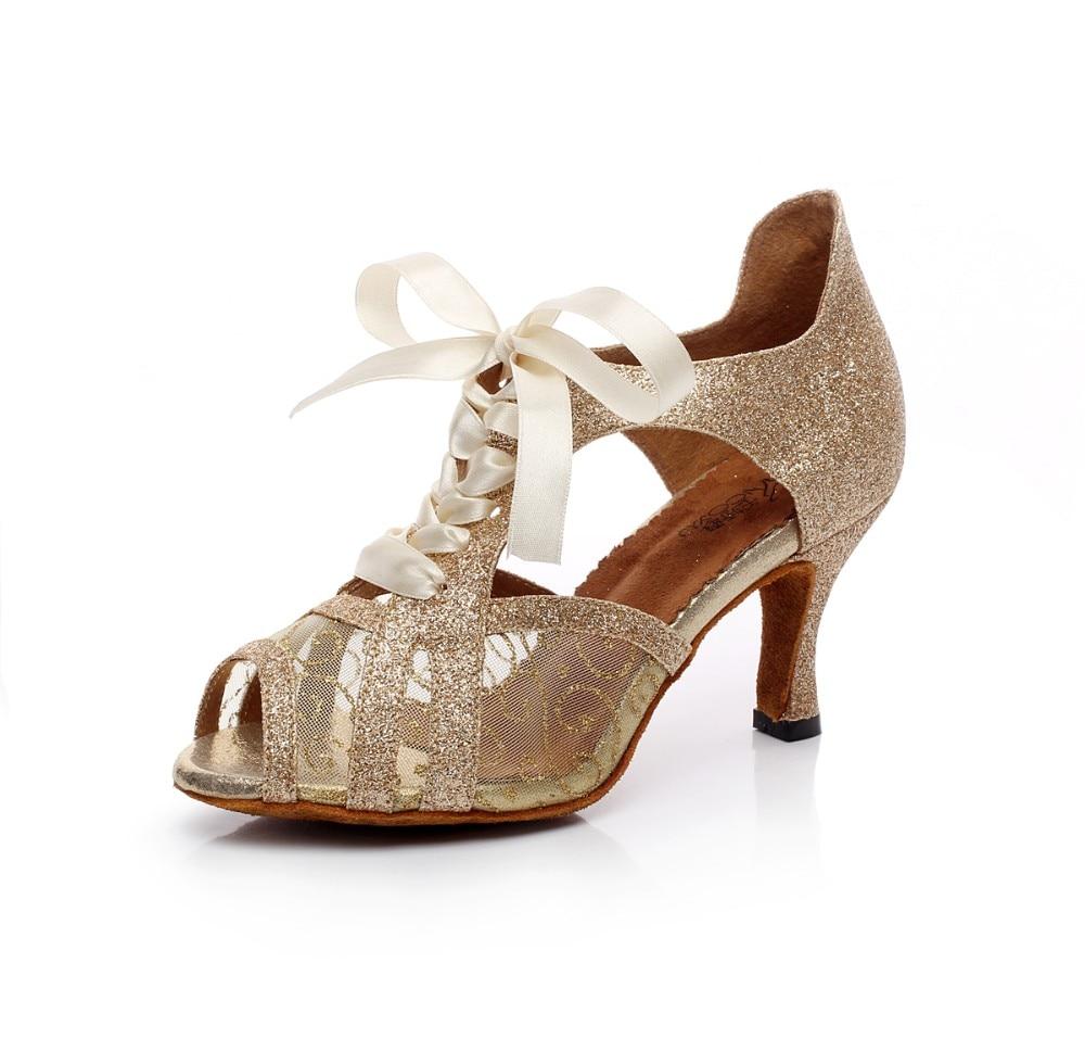 Woman Ballroom Latin Dance Shoes High Heels 67585cm Female Samba Tango Dance Shoes Salsa Sandals Size 33-42 Soft Sole T20