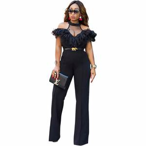 2bd85b89bc35 Misstyle 2018 Black Women s Jumpsuits Rompers Neck Sleeves