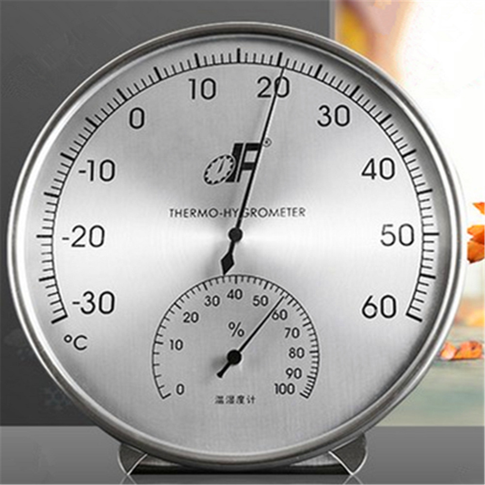 1Pc Thermometer Hygrometer High Precision -30~60 C Pure Copper Baby Indoor Home Laboratory Diameter: 160 MM 2 Type багиров э идеалист