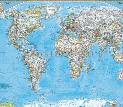 Study World Map.Modern English Study World Map Large Mural Wallpaper Tv Sofa Setting