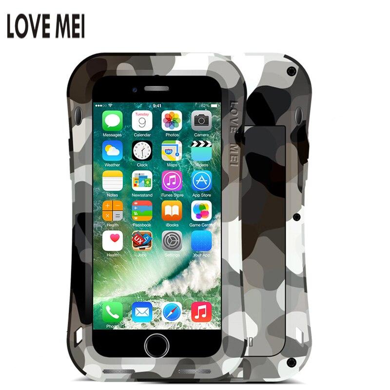 bilder für 100% Original LOVE MEI CAMO SERIE für iPhone 7/7 Plus, Leistungsstarke Shockproof Aluminium Decken Schmutz/Schnee-Outdoor Militärische Zwecke