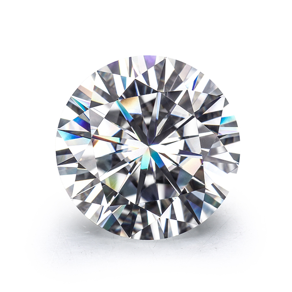 Round Brilliant Cut 6.5 mm EF Color Lab Created Moissanites diamond High quality for gold ring. image