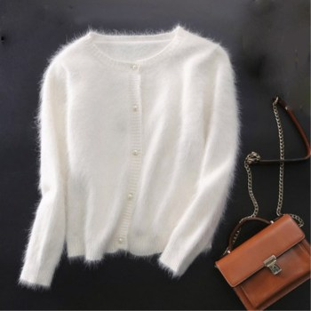 Brand new mink cashmere sweater women cashmere cardigans knitted pure mink coat free shipping S1896 1