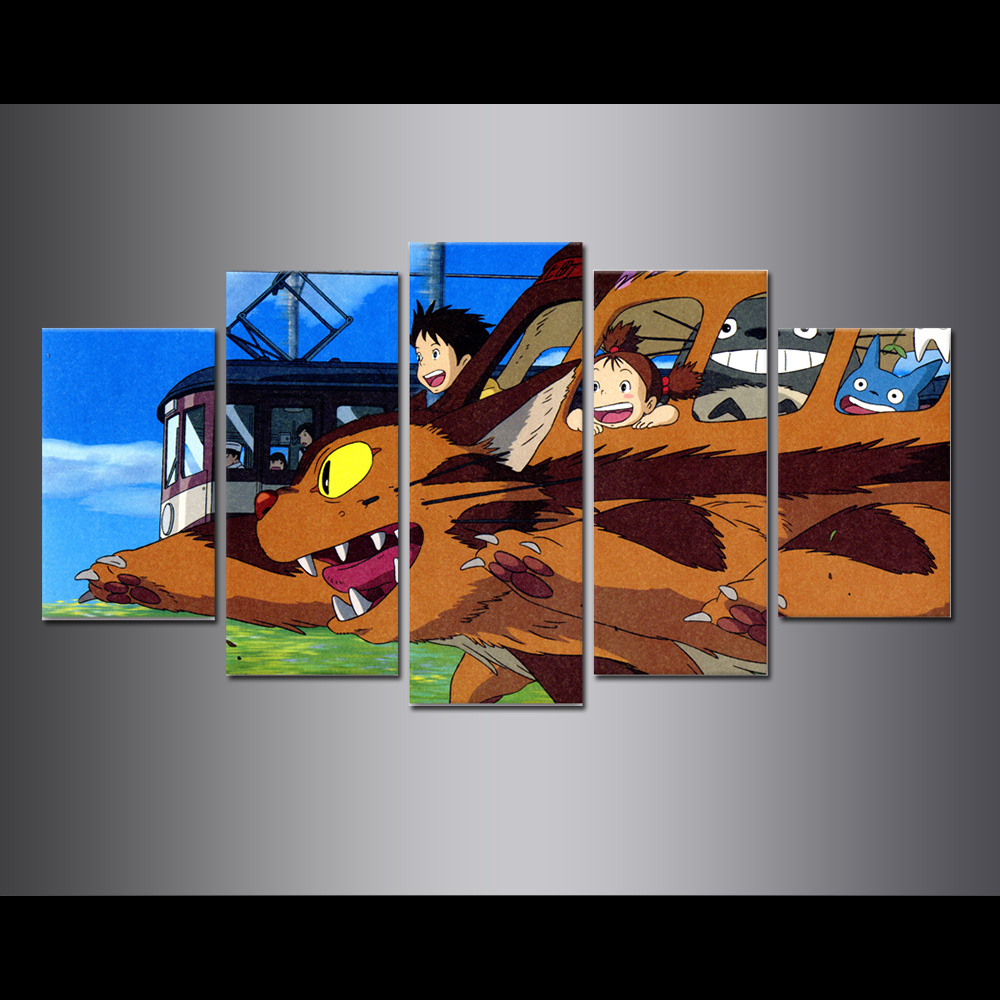 Unframed Canvas Painting Animation My Neighbor Totoro poster Modular Picture Prints Pictures For Living Room Wall Art Decoration