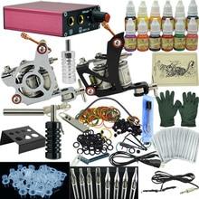 цены на OPHIR Free Shipping NEW 2 Machine Tattoo Kit Motor Guns Equipment 12 Ink Set Tatoo Needle Pigment#TA003  в интернет-магазинах