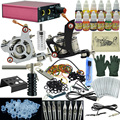 Ophir tatuagem kit completo para iniciantes da arte do corpo tatuagem 2 metralhadoras tattoo power supply 12 cores tattoo tintas 50 needles_ta003