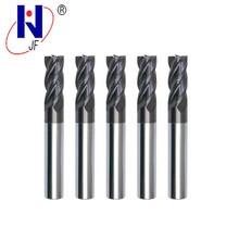 JF GES 5*13*5*50*4T   Solid carbide 4 flute flattened end mills with straight  shank milling cutter  HRC70  PT Coated 5pcs lot free shipping zcc gm 4e d2 0s cemented carbide 4 flute 2mm flattened end mills with straight shank cnc milling cutter