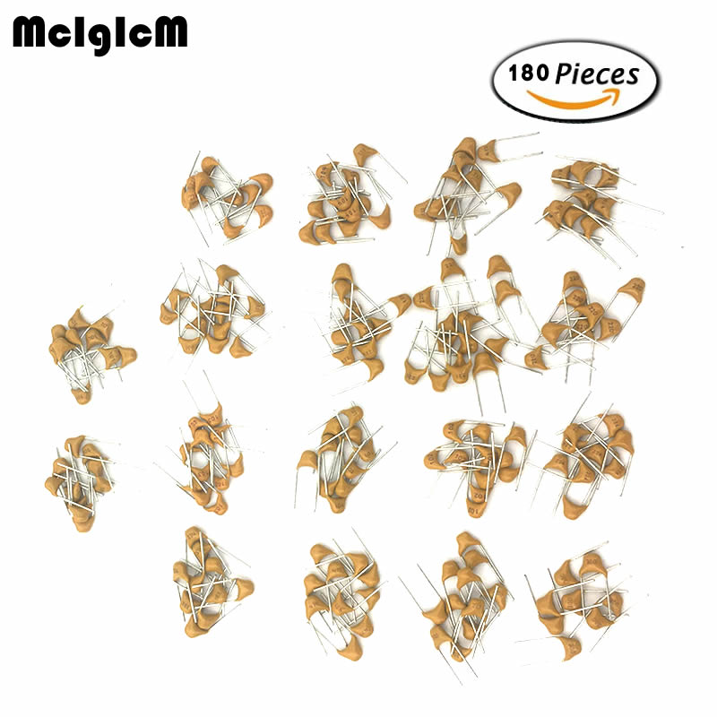 20PF-105(1UF) 50V 18ValuesX10pcs=180pcs Mono Monolithic Capacitors ,Monolithic Ceramic Capacitor Assortment Kit 50pcs monolithic capacitors 100p 100pf 101