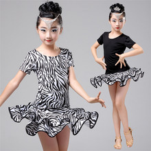 Girls Short Sleeves Latin Dance Dress Childrens Fancy Dress Kids Ballroom Dance Wear Salsa Tango Rumba Cha Cha Costume