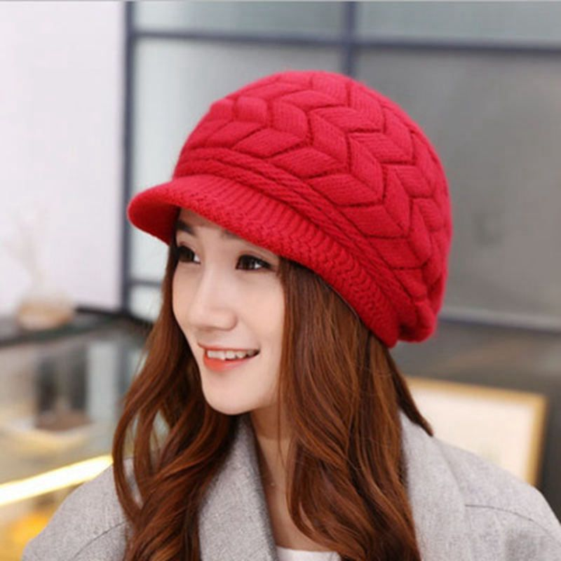 Fall Winter Beanies Knitted Hats Rabbit Fur Cap Winter Ladies Female Fashion Warm Skullies Hat Gifts For Women Gorras 8 Colors skullies female rabbit ear hat hat women s hair cap fashion cap winter cap fpc012