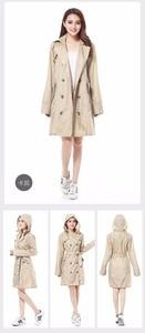 Image 5 - FreeSmily New Fashion Brand Fashion Big Size Women Thin Poncho Ladies Waterproof Long Slim Raincoat Adults Rain Coat With Belt