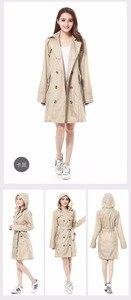 Image 5 - Новинка, модный брендовый Модный женский тонкий пончо FreeSmily большого размера, женский водонепроницаемый длинный тонкий дождевик, дождевик для взрослых с поясом