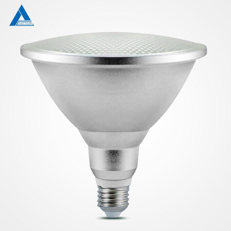 15 W E27 PAR38 impermeable al aire libre IP65 LED PAR 38 bombilla de luz interior de la lámpara luces AC 110 V 220 V 15 W blanco frío Lampad