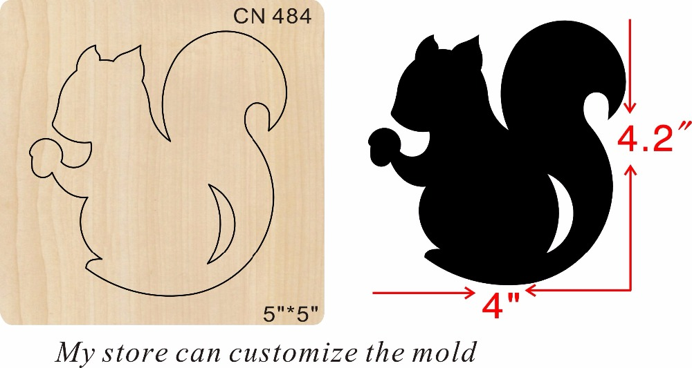 Black squirrel new wooden mould cutting dies for scrapbooking Thickness 15 8mm