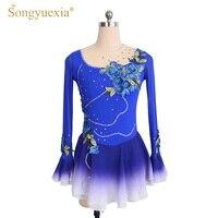SONGYUEXIA девочек балетное трико фигурное катание платье гимнастический Танцевальный Костюм Принцесса Балерина производительность пользоват