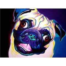 Картина для алмазной вышивки yikee k600 с изображением собаки