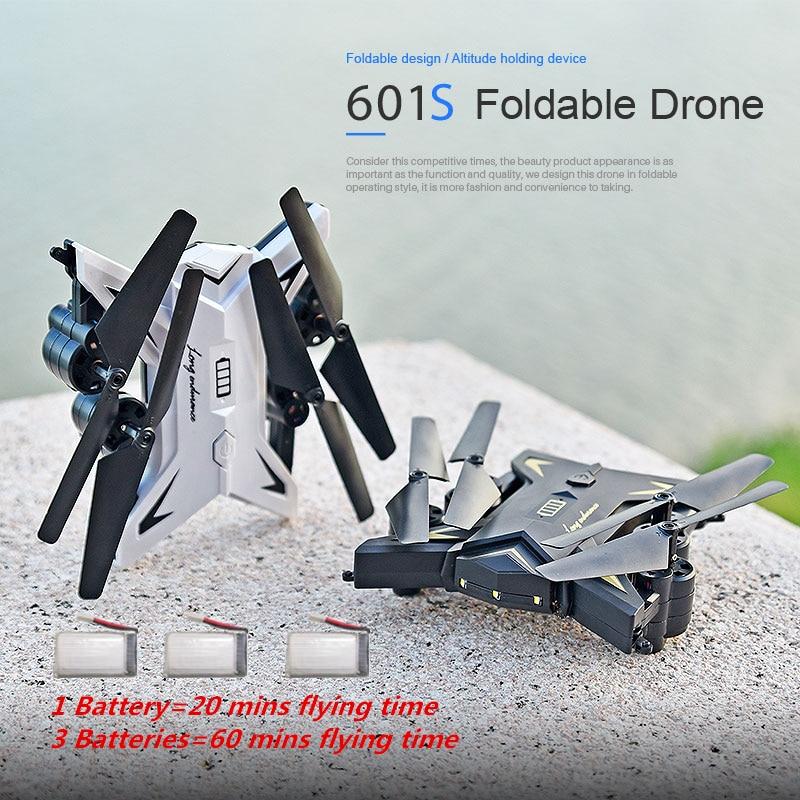 KY601S RC Drone con cámara 1080 p Selfie Drones con cámara HD Quadcopter plegable Quadcopter con cámara Fly 18 minutos VS E58