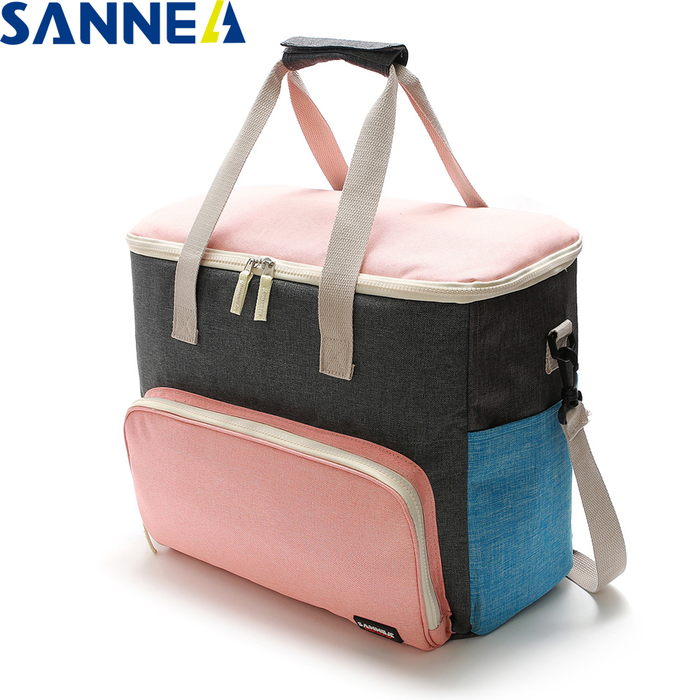 SANNE Insulated Lunch Bag Thermal Insulated Lunch Bag Frosted Fabric Multifunction Portable Lunch Bag For Family And Friends