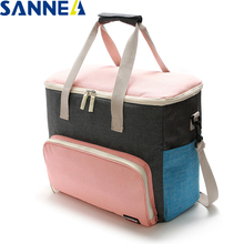 SANNE Insulated Lunch Bag Thermal Frosted fabric Multifunction Portable lunch for family and friends