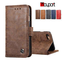 Thouport For Apple iphone 6S iphone 6 Case Wallet Phone Cover Retro Business Stand Card Slots Leather Case For iphone 6s(China)