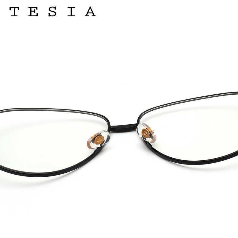 181575e398 ... TESIA Aviator Women Glasses Frame Brand Designer Men Eyeglasses Frame  Eyewear Clear Lens For Optical Glasses
