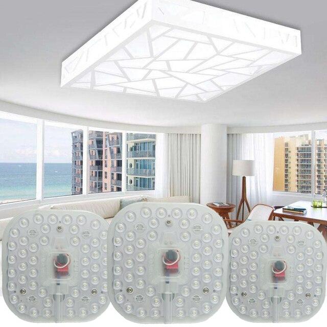 Светодиодный модульный светильник, 220 В, 230 В, 240 в, 12 Вт, 18 Вт, 24 Вт, сменный потолочный светильник, энергосберегающий источник, удобная установка