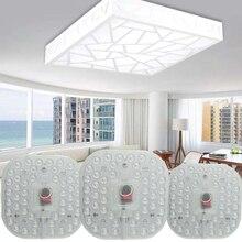 Led modül lamba AC220V 230V 240V 12W 18W 24W yerine tavan lambası aydınlatma kaynağı enerji tasarrufu uygun kurulum