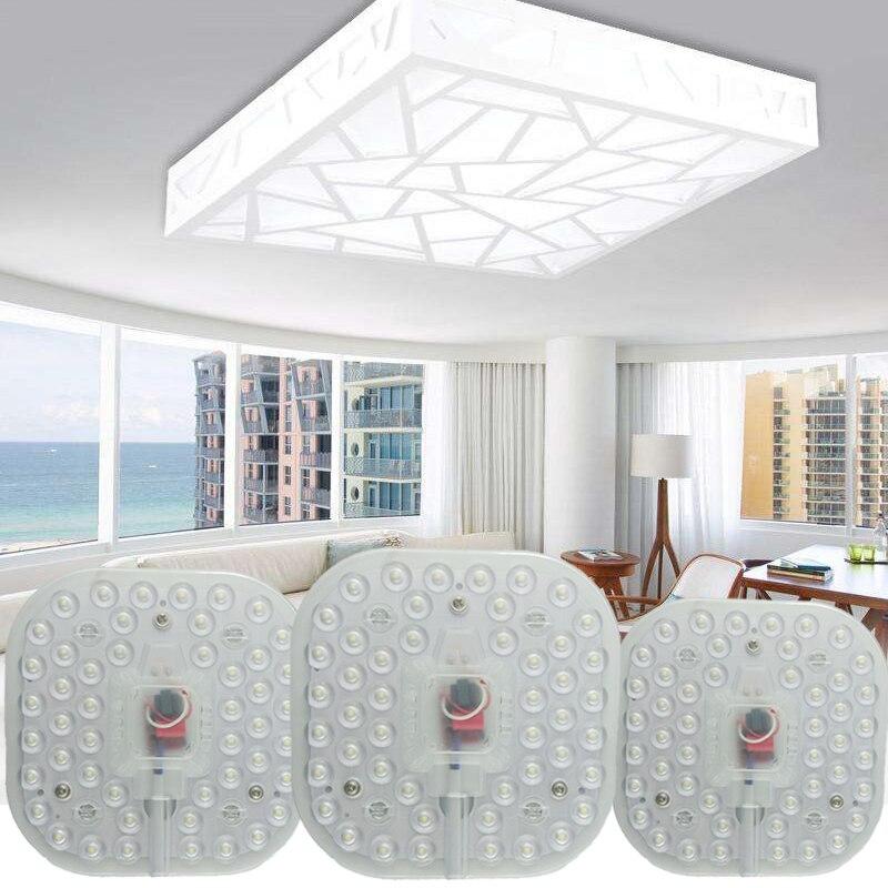 Módulo de led luz ac220v 230 v 240 v 12 w 18 24 substituir lâmpada do teto fonte iluminação poupança energia instalação conveniente