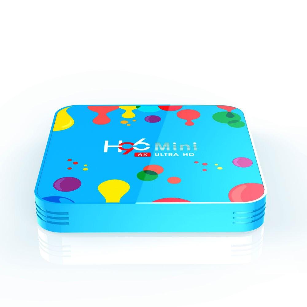 H96 Mini 4GB RAM 128GB ROM TV Box Allwinner H6 5G WIFI 4K 6K bluetooth 4,0 Android 9.0 Smart TV Box USB3.0 für Youtube