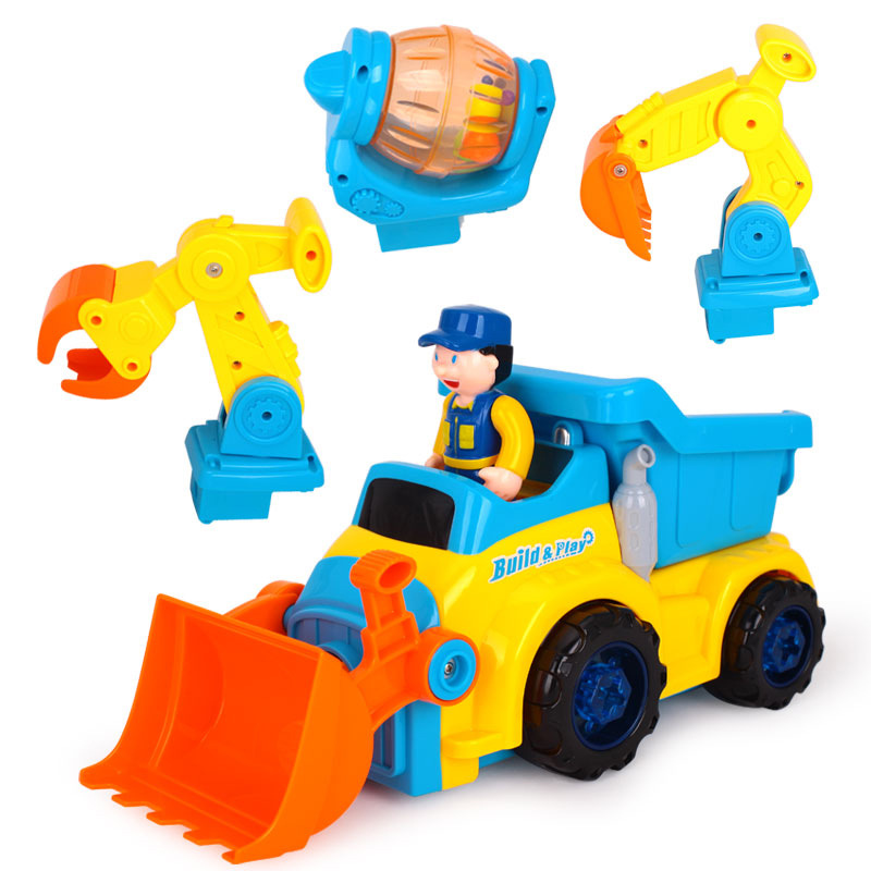 ФОТО Toy Puzzle Disassembly Electric Engineering Vehicle Assembly Tool Disassembling Screw Boy Children