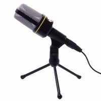 Professional Microphone 3 5 Mm Jack Condenser Microphone With Stand Set Radio Studio For PC Computer
