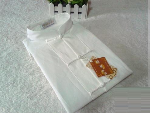 Spring Autumn Shirt Blouse Mens Kung Fu Wushu Martial Arts Chinese Frog Button Linen Top Shirt