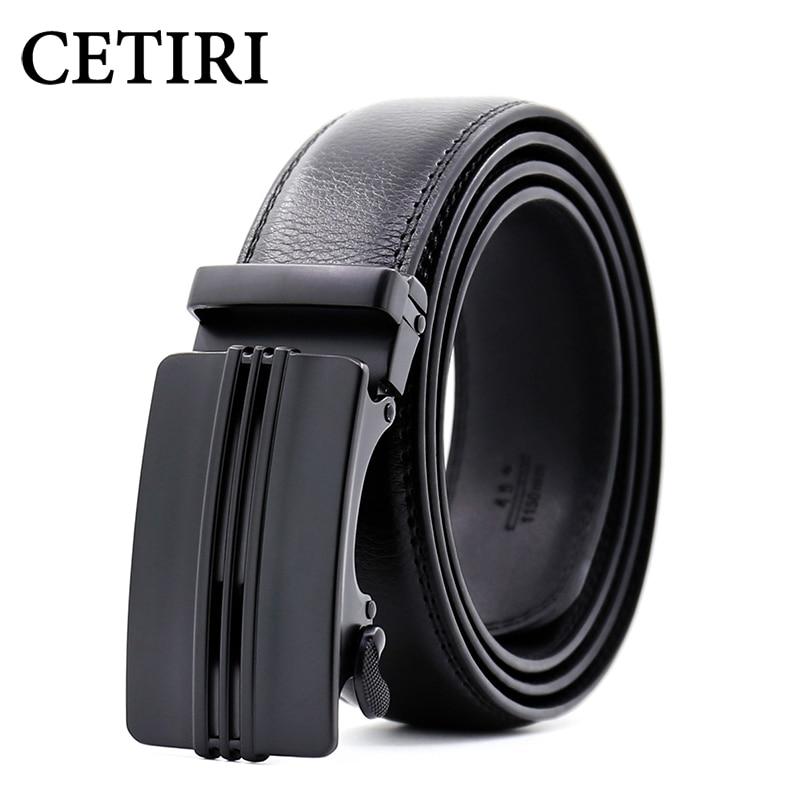 CETIRI new arrive black brown business belts for men ceinture luxury genuine leather belt with buckle cowskin jeans pants strap