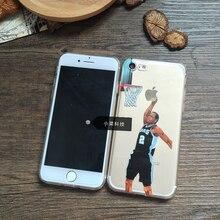 Case для iphone 5s 7 6 s 5 se 6 s плюс 7 плюс Case NBA Баскетбол Kawhi Леонард Звезда Прозрачный Кремния Мягкие tpu Крышка/6 плюс 6 s