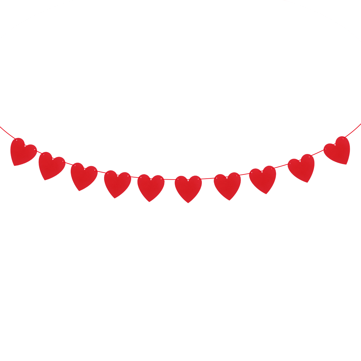Us 1 5 37 Off 3 Meters Hanging Decor Red Love Heart Bunting Banners Garland Wedding Valentines Day Birthday Bridal Shower Marriage Proposal In Party