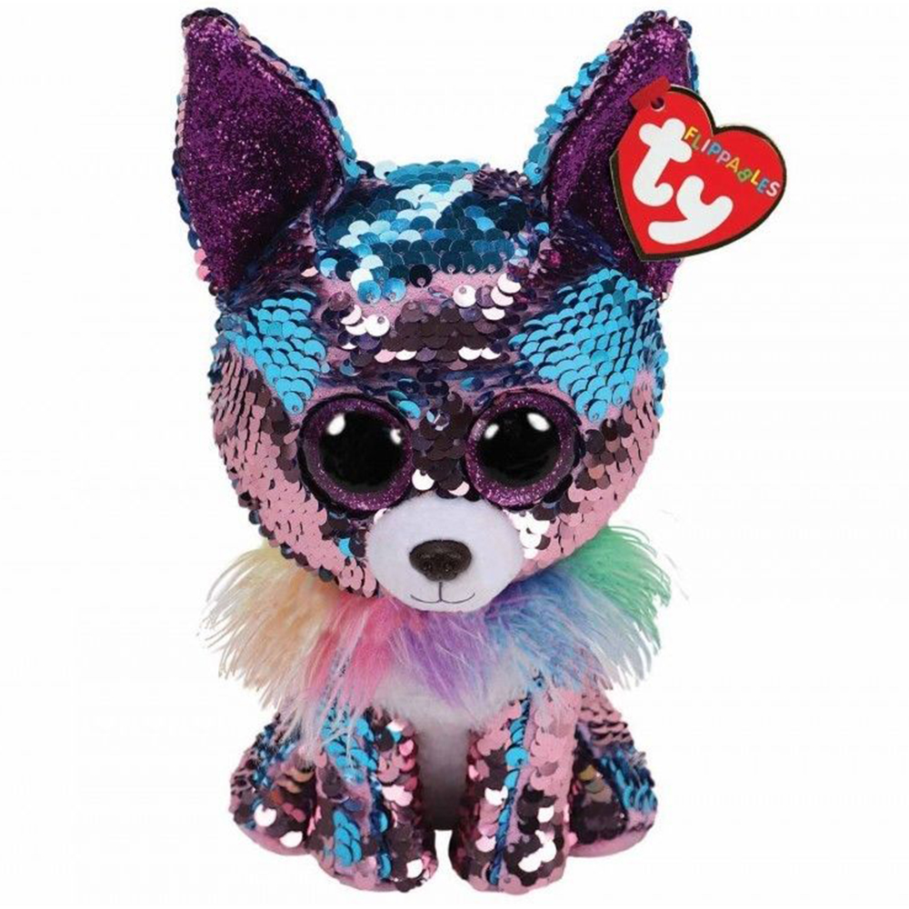 Ty Beanie Boos 9 25cm Sequin Yappy The Chihuahua Dog Plush Regular Stuffed Animal Collection Soft Big Eyes Doll Toy With TagTy Beanie Boos 9 25cm Sequin Yappy The Chihuahua Dog Plush Regular Stuffed Animal Collection Soft Big Eyes Doll Toy With Tag