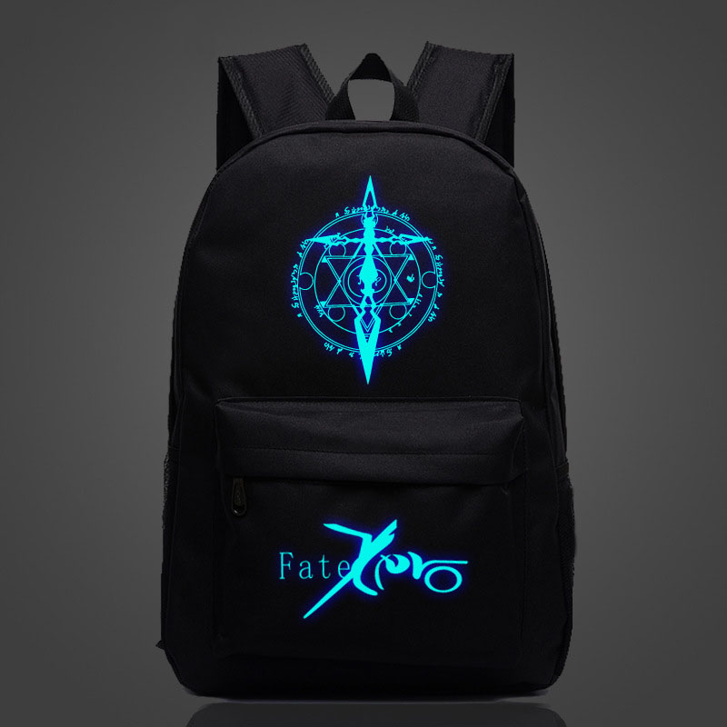 Fate/Stay Night Anime Backpack Luminous Printing Starry Sky School Bag For Teenagers High Quality travel Rucksack