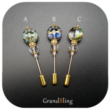 Newest Fashion Vitage Style Lapel Pins Fancy Glass Beads Handmade Suit Long Accessories  FREE SHIPPING