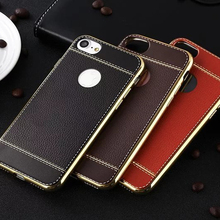 JCOVRNI Luxury soft TPU for iPhone 5 5S SE phone cover XR XS  7 8plus gold plating border mobile case Coque