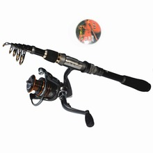 Cheaper 1.8M–3.3M Fishing Rod Set  Carbon Telescopic Fishing Rod And Spinning Fishing Reel with 13BB Reel