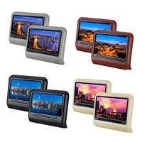 Car Styling 2pcs DHL Car Headrest DVD Player 9 Inch SD Player Pillow Monitor LCD Screen