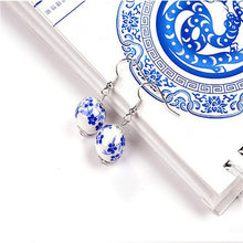 New Arrival Fashion Women's Simple printing ceramic earrings dangle earrings