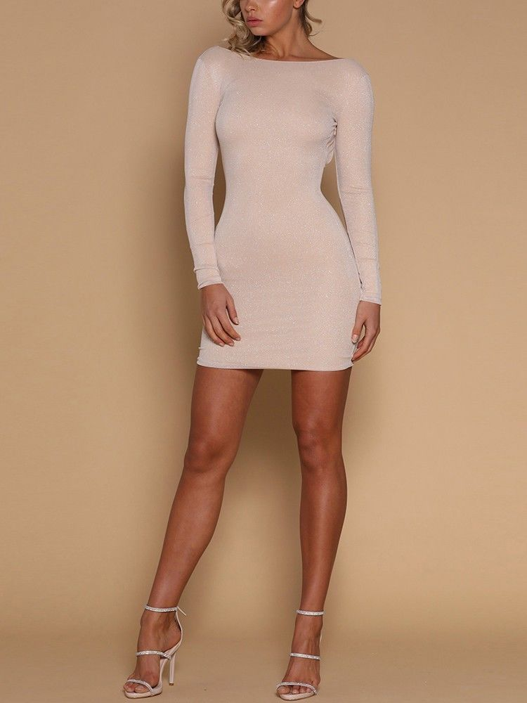 2018 Autumn Sexy Women s Bodycon Backless Party Cocktail Slim Short Mini Dress Fashion Long Sleeve 2018 Autumn Sexy Women's Bodycon Backless Party Cocktail Slim Short Mini Dress Fashion Long Sleeve Sheath White Mini Dresses
