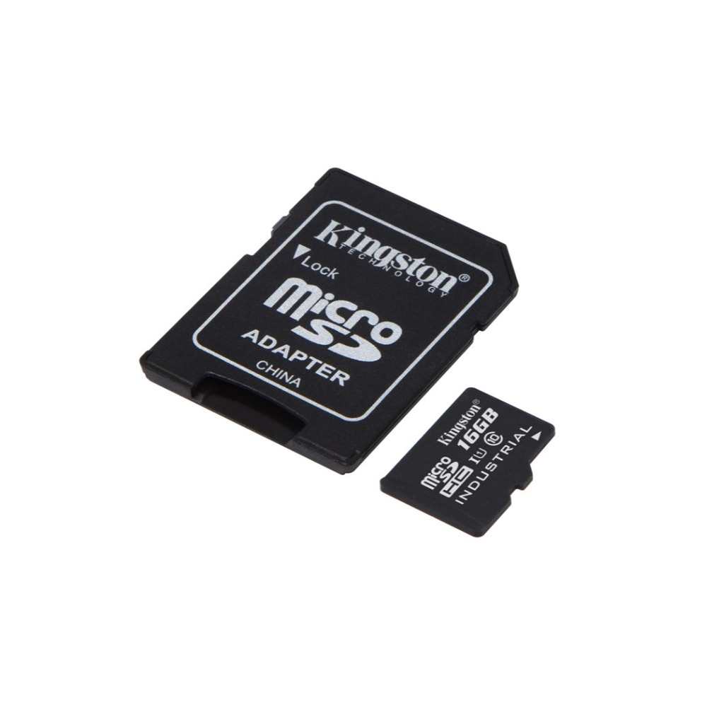 Kingston SDCIT/16 gb microSDHC 16 gb UHS-I Class10 Industrielle Température Carte + SD Adaptateur, UHS-I, 90 mb/s, Negro Tarjetas de moi