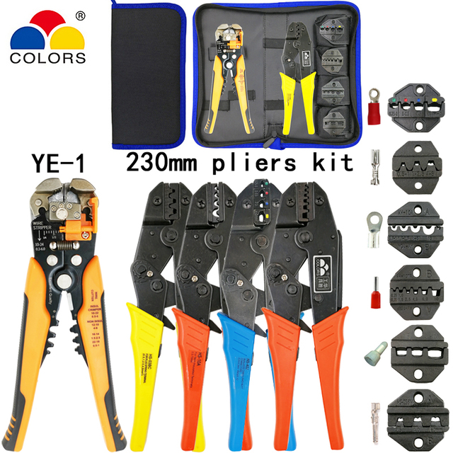 Kit crimping pliers HS-40J/03BC/10A/10WF wire stripper multifunction tools for insulation/tube/pulg terminals electrical tools